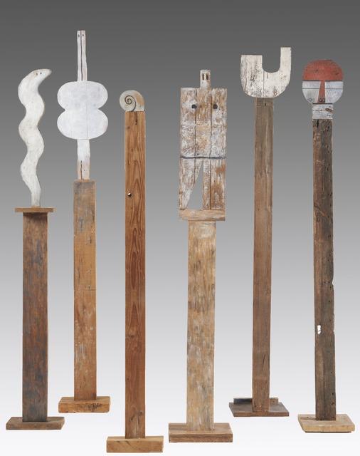 , 'Tótems: Serpiente, 1960; Venus, 1969; Caracol, 1985; Universal Man, 1988; U, 1970;  Máscara, 1988 ,' 1960-1988, Cecilia de Torres, Ltd.