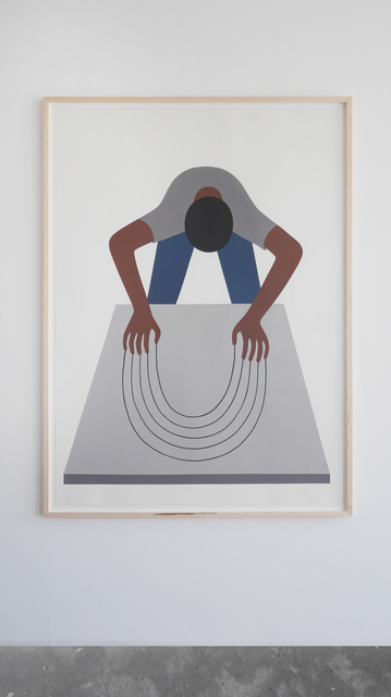 Geoff McFetridge, 'Bend the Void (Guy Clawing)', 2016, V1 Gallery