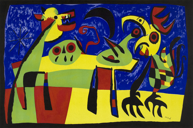 Joan Miró, 'Dog Barking at the Moon', 1952, Heather James Gallery Auction