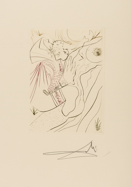 Salvador Dalí, 'Le Péché partagé (M & L 552c; Field 72-8A)', 1972, Print, Etching printed in colours, Forum Auctions