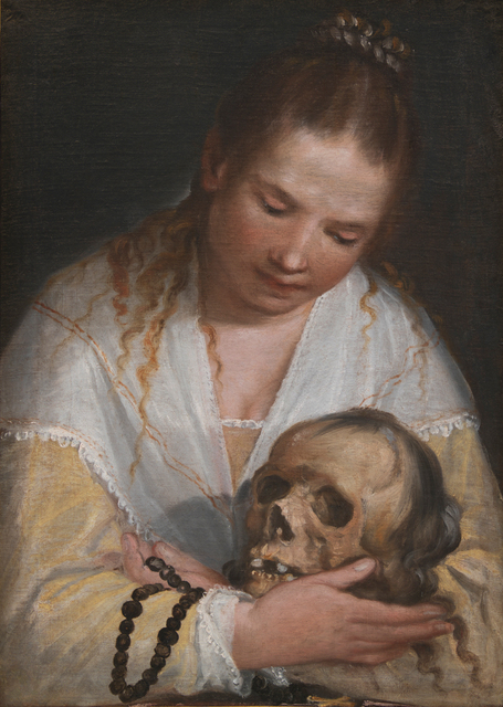 Alessandro Casolani, 'Woman contemplating a skull', Statens Museum for Kunst