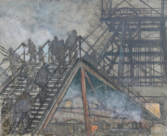 , 'Pit Gantry,' ca. 1970, Castlegate House Gallery