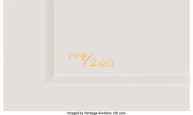 KAWS, 'Warm Regards', 2005, Other, Hand letterpress in colors on wove paper, Heritage Auctions