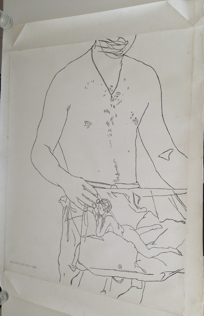 , 'Standing male with picture of reclaning nude,' 1997, The Art:Design Project