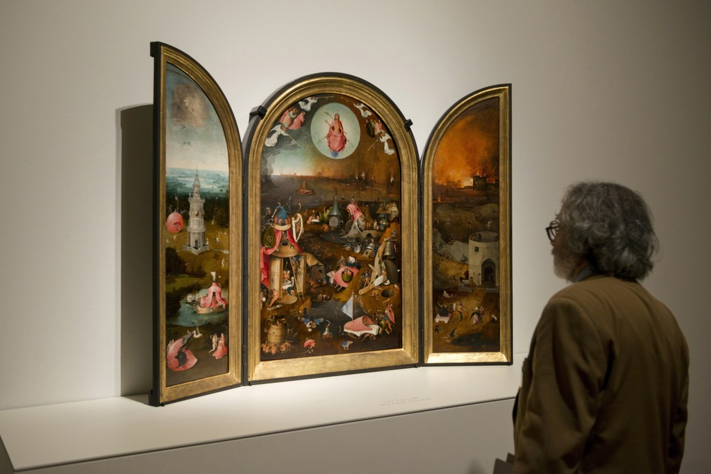 "Installation view of ""Bosch. The 5th Centenary Exhibition"" at Museo Nacional del Prado, Madrid (2016) © Museo Nacional del Prado"