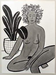 lady with plant