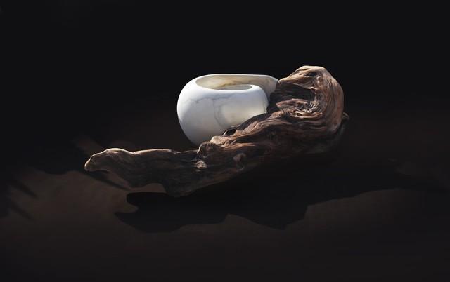 Elizabeth Turk, 'HOME 2', 2016, Sculpture, Marble and Northern California Redwood, Hirschl & Adler