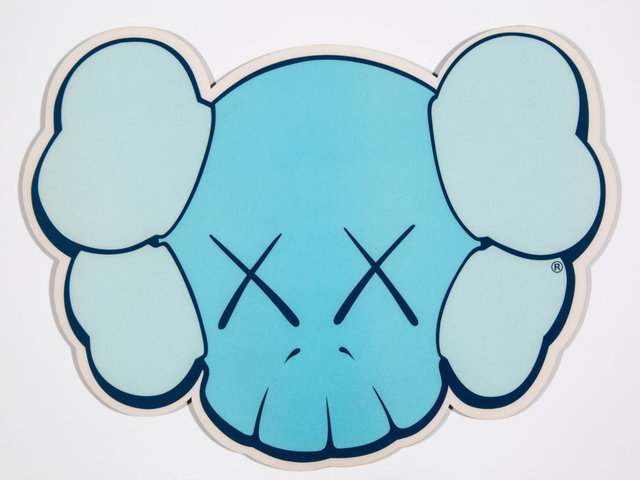 KAWS, 'Mousepad (Blue)', n.d., Print, Screenprint on plastic with foam backing, Heritage Auctions