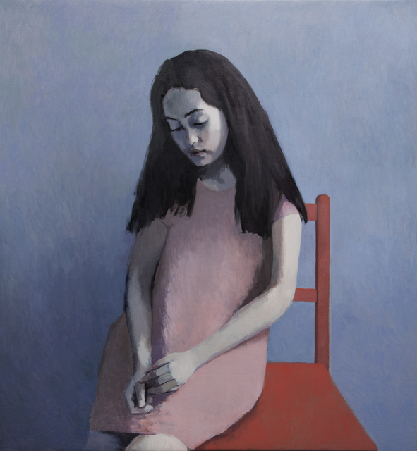 , 'Girl in Pink with a Red Chair,' 2014, Flowers
