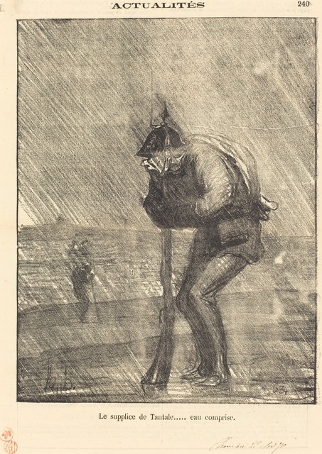 Honoré Daumier, 'Le supplice de tantale... eau comprise', 1870, National Gallery of Art, Washington, D.C.