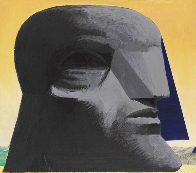 Horst Antes, 'Großer grauer kopf mit blauer florentiner Kappe', 1978-1979, Galerie Leu