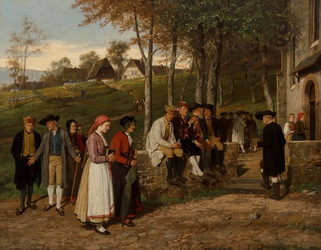 Hubert Salentin, 'Going to church', 1871, Heritage Auctions