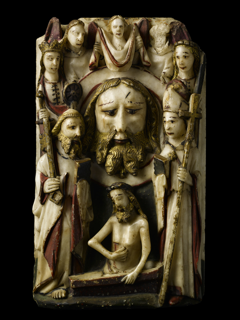 , 'The Head of St. John the Baptist,' England (Nottingham)-late 15th century, Blumka Gallery