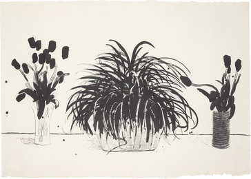 Two Vases of Cut Flowers and a Liriope Plant (Gemini G.E.L. 915; M.C.A.T. 232)
