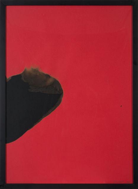 , 'Papier rouge brûlé,' 1973, De Buck Gallery