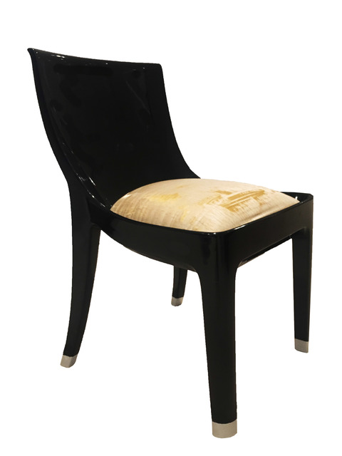 , 'A prototype, single commission black lacquer chair,' ca. 1925, DeLorenzo Gallery