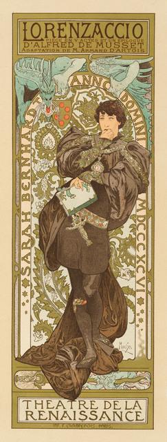 Alphonse Mucha, 'LORENZACCIO', 1898, Christopher-Clark Fine Art