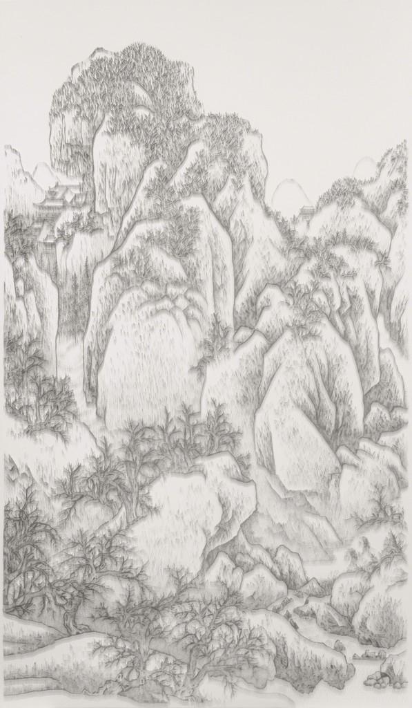 Chen Chun-Hao, 'Imitating Solitary Temple in The Snowy Mountains by Fan Kuan, Song Dynasty, late 10th century,' 2013, Tina Keng Gallery