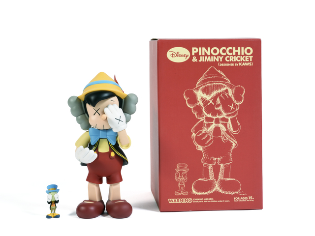 KAWS, 'Pinocchio & Jiminy Cricket', 2010, Digard Auction