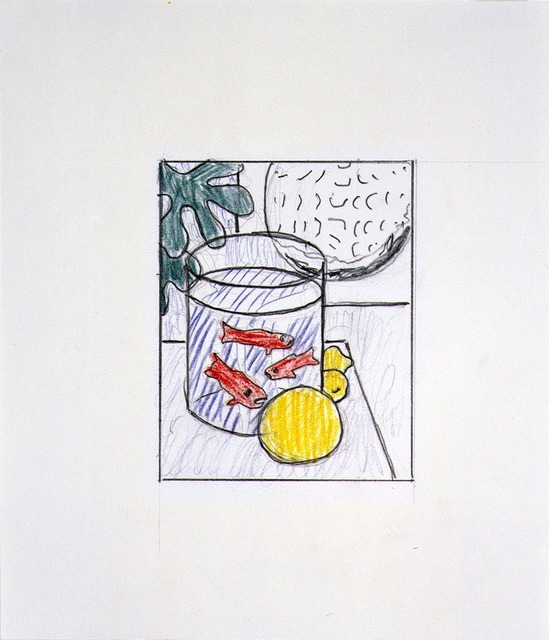 "Roy Lichtenstein, 'Drawing for ""Still Life with Goldfish"",' 1972, Mitchell-Innes & Nash"