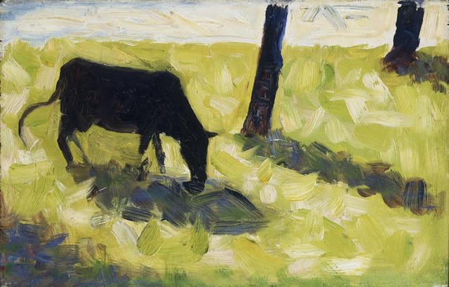 Georges Seurat, 'Black Cow in a Meadow', ca. 1881, Yale University Art Gallery