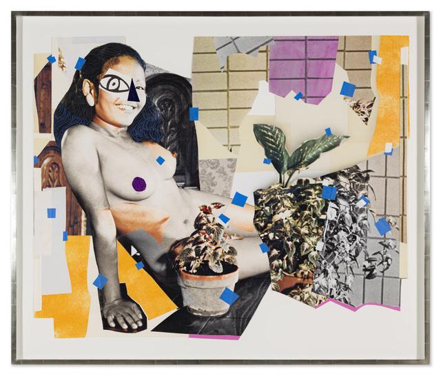 Mickalene Thomas, 'Jet Blue #4', 2018, Galerie Nathalie Obadia