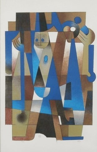 Carlos Merida, 'La Dama de la Esmeralda', 1979, Print, Serigraph, Stern Fine Art