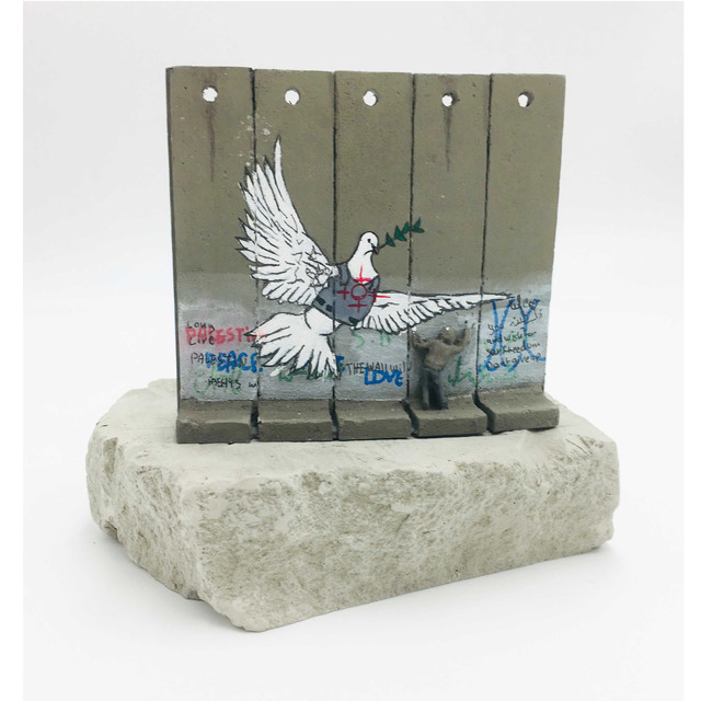 Banksy, 'Walled Off Hotel - Wall Sculpture (Dove)', 2018, Sculpture, Miniature concrete souvenir sculpture, hand-painted by local artists, Lougher Contemporary