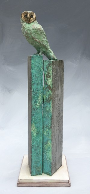 Christopher Reilly, 'Patina Owl', Sculpture, Wood & Mixed Media, Diehl Gallery