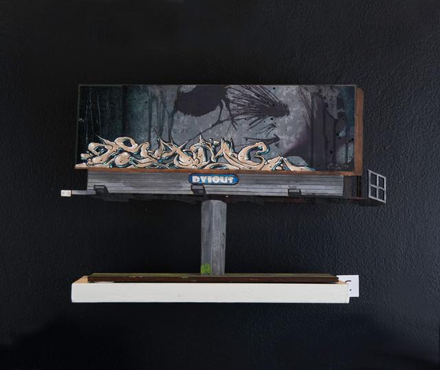 Solve, 'Billboard C', 2018, Painting, Acrylic and Aerosol on Wood Cutout, EWKUKS
