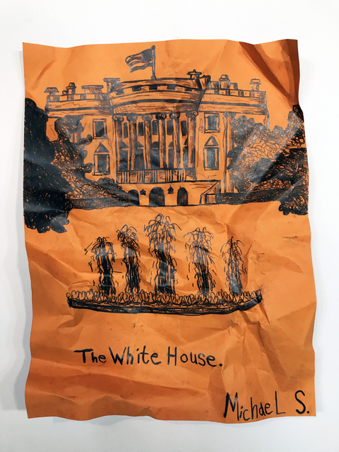 Michael Scoggins, 'The White House VI', 2018, Drawing, Collage or other Work on Paper, Graphite on Archival  Faux Butcher Paper, Children's Museum of the Arts
