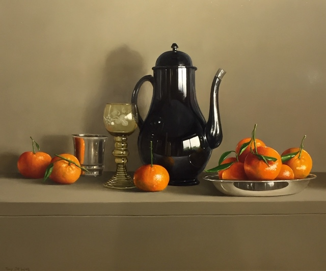 , 'Goblet, Black Pot and Mandarins,' 2018, Thompson's Galleries