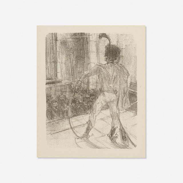 Henri de Toulouse-Lautrec, 'Schlome Fuss in the Synagogue, from Au Pied du Sinai', 1897, Wright