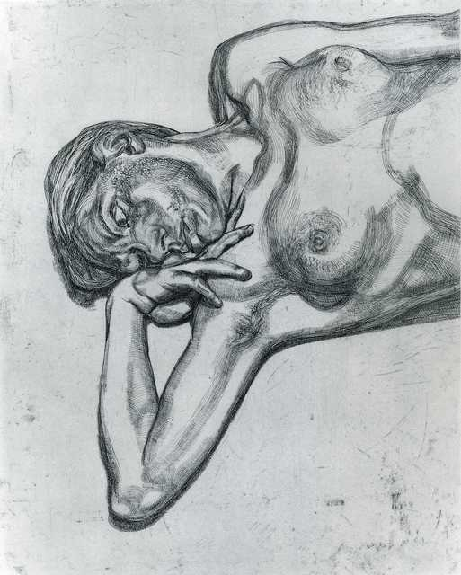 Lucian Freud, 'Head and Shoulders of a Girl', 1990, Print, Etching on Somerset Satin White paper, Browse & Darby