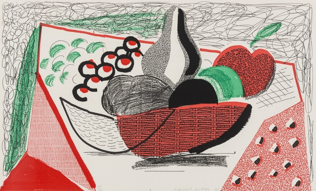 David Hockney, 'Apples, Pears & Grapes, May 1986 (M.C.A. Tokyo 291)', 1986, Forum Auctions