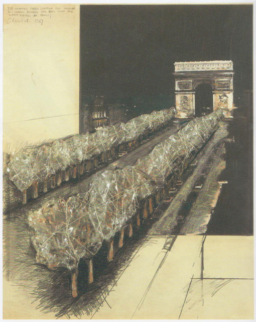 , 'Wrapped trees Champs Elysées ,' 1969, Galleria Tega
