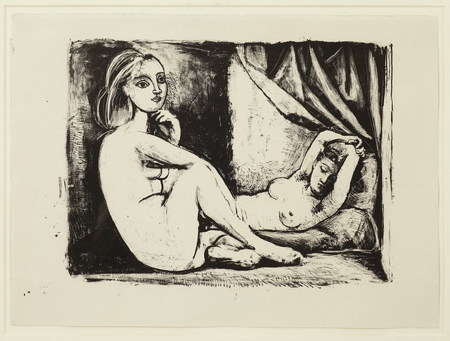 Pablo Picasso, 'Les Deux Femmes nues, State 3 (ii), November 1945', 1945, Cristea Roberts Gallery