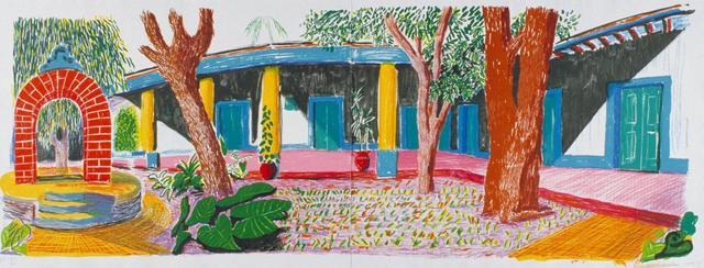 David Hockney, 'Hotel Acatlan: First Day', 1984-1985, Wetterling Gallery