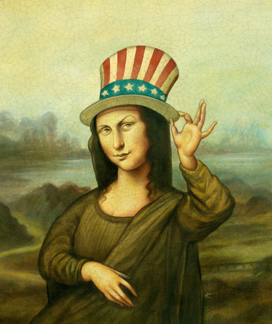 , 'Mona Lisa with Flag Hat,' , Zenith Gallery