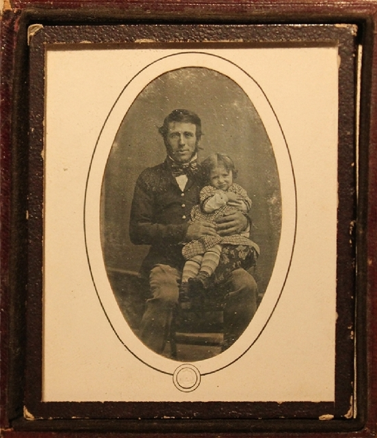 Louis-Auguste Bisson, 'Portrait of a man holding a child in his arms', ca. 1841, James Hyman Gallery