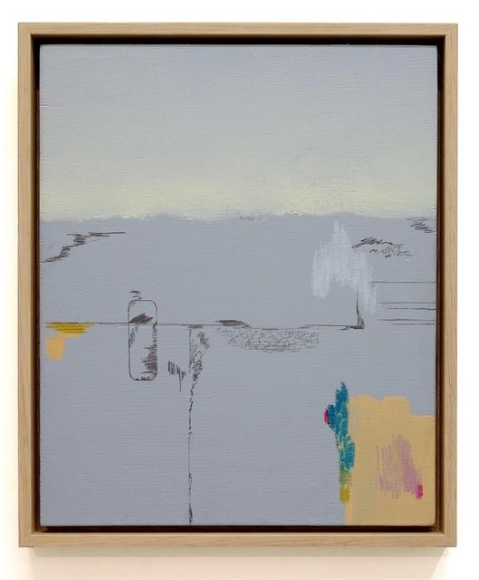 Susanne S. D. Themlitz, 'Transcripción-Deriva y Dispersión', 2018, Mixed Media, Oil, watercolor, colored pencils, graphite and acrylic on wood, Ángeles Baños