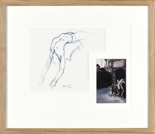 Ernest Pignon-Ernest, 'Etude pour l'homme qui porte', 1990, Drawing, Collage or other Work on Paper, Ink on paper and photography, Millon