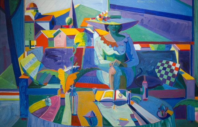 , 'Woman with a Hat, Shades of Blue ,' 1989, The Studio Shop