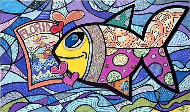 Jack Ottanio, 'I love Florida', 2020, Painting, Acrylic on canvas, SmART Coast Gallery