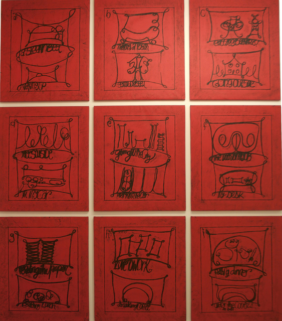 , 'Untitled (Learning from that persons's work: city, red),' 2009, Cristina Guerra Contemporary Art