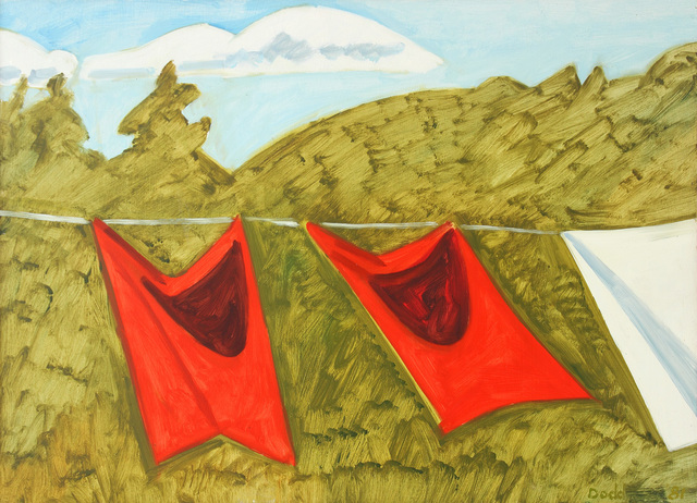 , 'Two Red Drapes and Part of White Sheet,' 1981, Alexandre Gallery