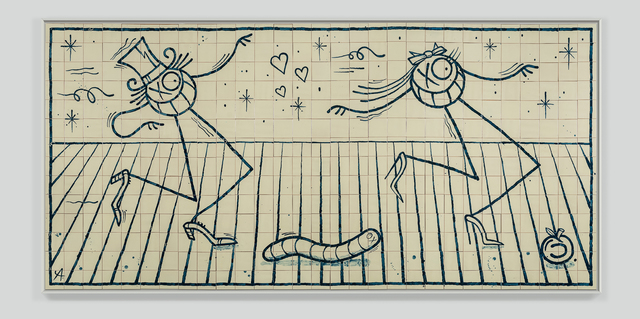 "André Saraiva, '""Mr. Adam and Mrs. Eve""', 2018, Mixed Media, Hand-painted tiles, Underdogs Gallery"