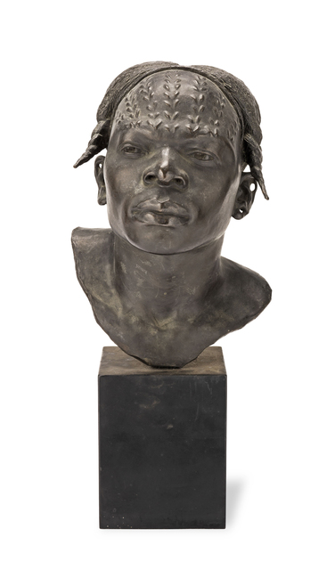 , 'A patinated bronze bust of a native African head entitled 'An Aruimi Type',' , Robilant + Voena