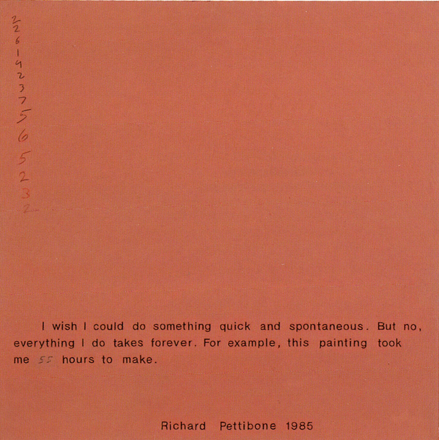 Richard Pettibone, 'I Wish I Could Do Something Quick and Spontaneous', 1985, Collectors Contemporary