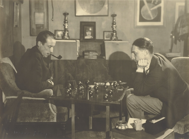 , '[Marcel Duchamp and Raoul de Roussy de Sales Playing Chess],' 1925, J. Paul Getty Museum